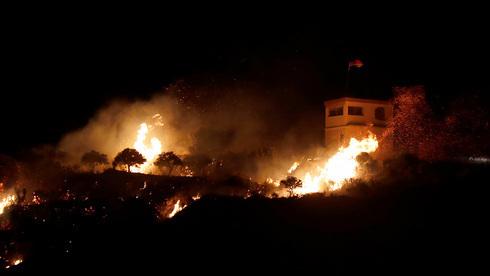 Daños causados por un anterior presunto ataque israelí a Siria.
