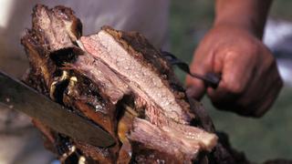 Un corte de asado, la tradicional comida argentina.