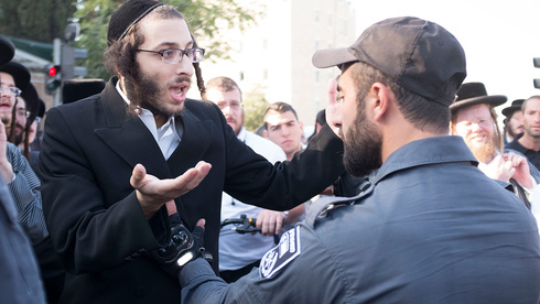 Choque entre religiosos ortodoxos y la policía en Jerusalem.