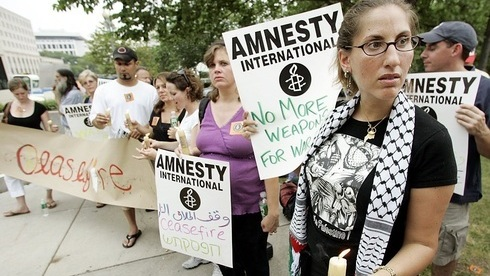Marcha de Amnistía Internacional celebrada en Washington.