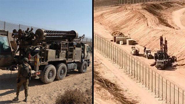 Trabajos de las FDI cerca del túnel terrorista detectado en octubre.
