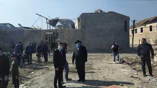 Según el rabino se trata del quinto bombardeo en la ciudad de Ganja.