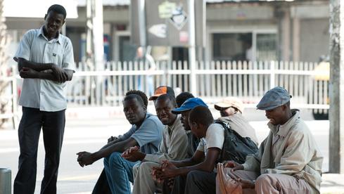 Refugiados sudaneses en el sur de Tel Aviv.