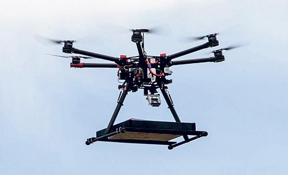 Um dos drones usados para entrega.
