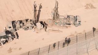 Descubrimiento de un túnel terrorista de Hamás el mes pasado.