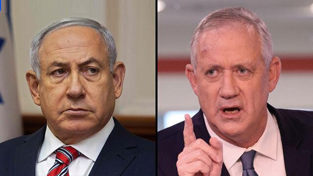 """Netanyahu: """"No nos pongan a prueba"""". Gantz: """"Hay un responsable por esto y es Hamás""""."""