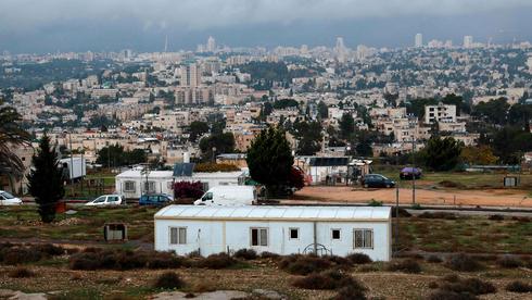 Viviendas temporales en Givat Hamatos, Jerusalem Oriental.