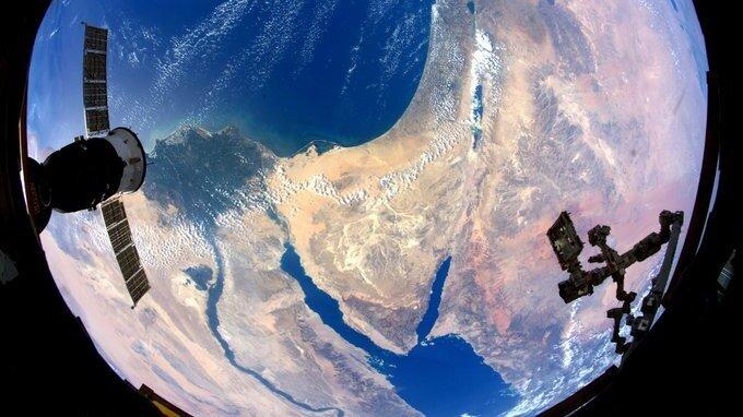 Israel vista desde la Estación Espacial Internacional.