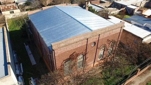 Sinagoga Israelita de Médanos, Provincia de Buenos Aires, Argentina.