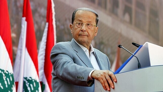 Michel Aoun, presidente del Líbano.