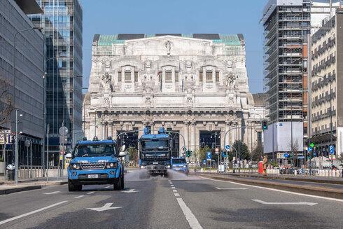 Milán durante uno de los bloques nacionales.