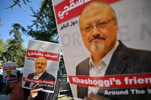 Protesta en Estambul por la muerte del periodista saudí.