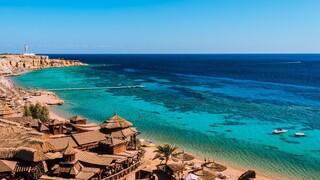 Una playa en la península del Sinaí.