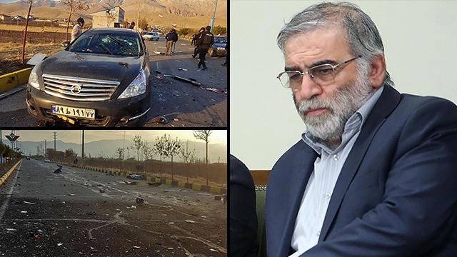 Mohsen Fakhrizadeh y el lugar de la eliminación en Irán.