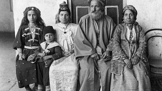 Familia Dangor en Bagdad, en 1910.