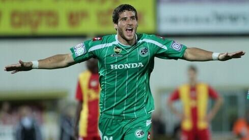 Tomer Hemed con la camiseta del Maccabi Haifa.