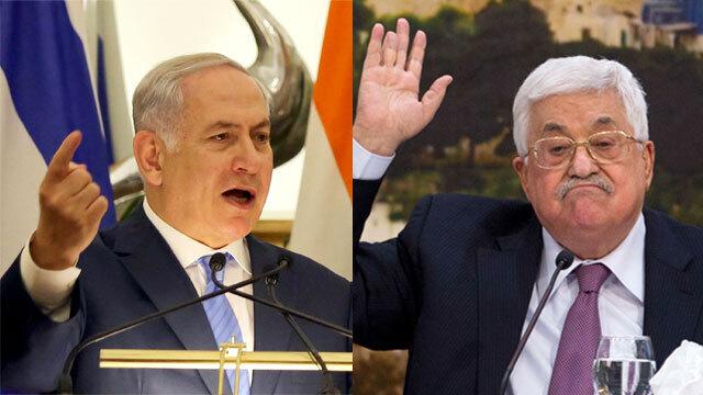 Benjamín Netanyahu y el presidente de la Autoridad Palestina, Mahmoud Abbas.