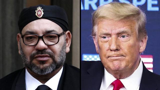 El rey de Marruecos, Mohamed VI y el presidente de Estados Unidos, Donald Trump.