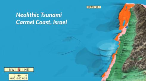 As áreas de Israel que foram atingidas pelo tsunami.