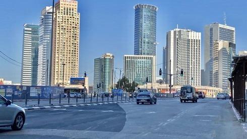 Así se ve Tel Aviv durante el tercer bloqueo por coronavirus.