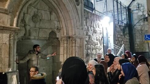 Turistas turcos en la Ciudad Vieja de Jerusalem en febrero.