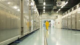 Interior de la planta de conversión de uranio de Fordo.