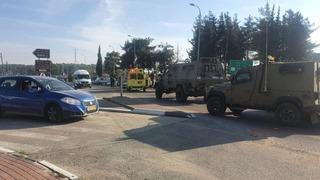 Lugar del ataque en Gush Etzion.