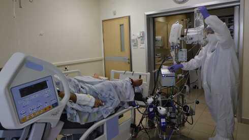 Sala de atención por coronavirus en el hospital Ichilov.