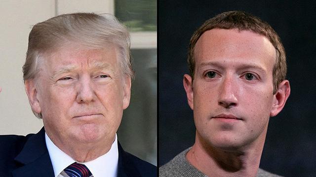 Trump y Zuckerberg