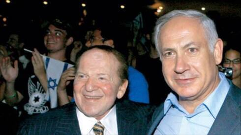 Sheldon Adelson con el primer ministro Benjamin Netanyahu.