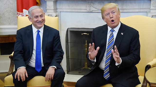 Benjamín Netanyahu y Donald Trump en la Casa Blanca en 2018.