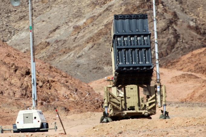 """""""Cúpula de Ferro"""" em Eilat."""
