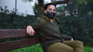 Mujer soldado de las FDI con el suéter de lana que será reemplazado.