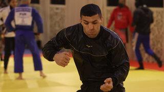 Saeid Molaei entrenando en Catar.