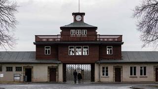 Entrada al campo de concetración de Buchenwald.