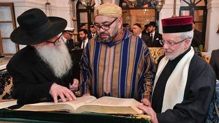 Visita del rey Mohammed VI Beit Dakira, el museo de la memoria judía en Esauria.