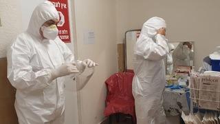 Sala de coronavirus en el Hospital Soroka, en Beer Sheva.