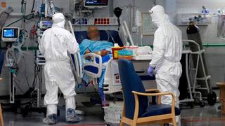 Sala de coronavirus en el Hospital Sheba.