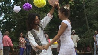 Fanny y Yezreel durante su casamiento.
