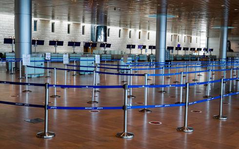O principal aeroporto de Israel, vazio durante as restrições do coronavírus.