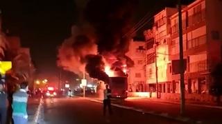 El escenario de los disturbios en Bnei Brak el domingo por la noche.