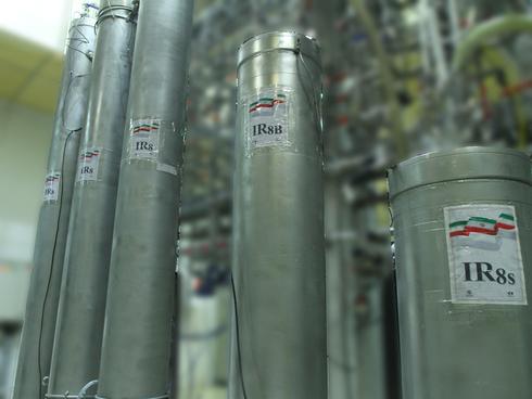 Centrífugas de enriquecimento de uro em uma instalação nuclear em Natanz, Irã.