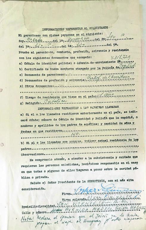 Documentos migratorios de Oskar Schindler y su mujer.