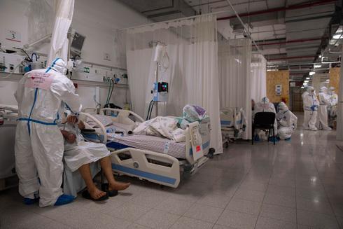 Sala de coronavirus en el Centro Médico Ziv en Safed.