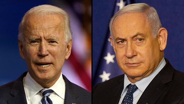 Joe Biden, presidente de Estados Unidos, y Benjamín Netanyahu, primer ministro de Israel.