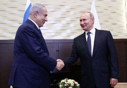 Benjamín Netanyahu y Vladimir Putin durante una reunión en Sochi en 2019.