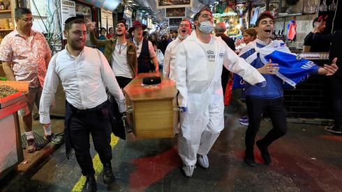 Celebración de Purim el año pasado en Jerusalem en el inicio de la pandemia.