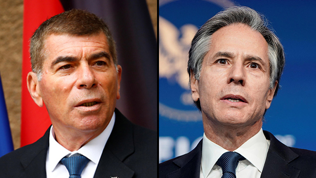 El ministro de Relaciones Exteriores israelí, Gabi Ashkenazi (izquierda), y el secretario de Estado estadounidense, Antony Blinken.