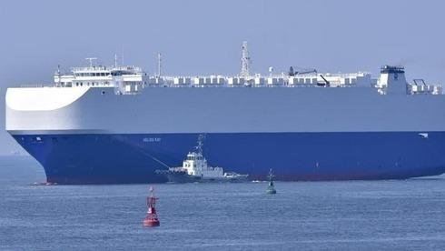 Helios Ray, el barco de propiedad israelí afectado por las explosiones en el Golfo de Omán.