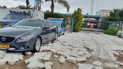 Granizo en Ashkelon.